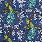 V&A Fabric - Peacock (Navy) - 1 Metre