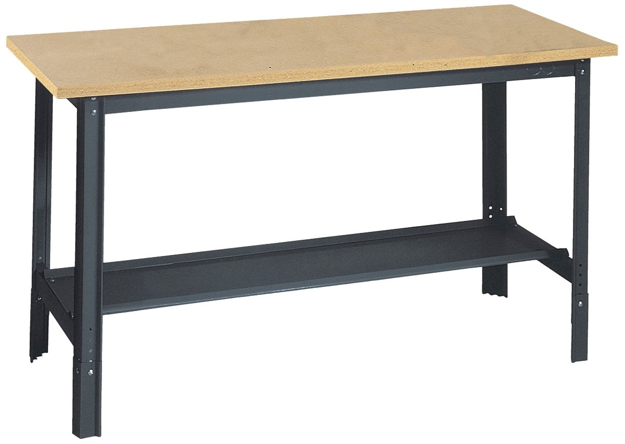 Garage Workbench Table Work Shop Shelf Wood Classrooms Laboratories Steel Legs Ebay