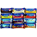 Luna Bar Variety Sampler Set (Pack of 12)