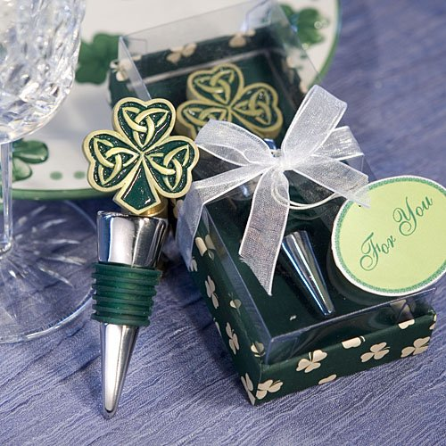 Shamrock Trinity Love Knot Bottle Stopper