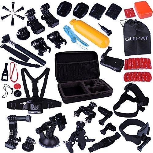 Quimat 44 in 1 Kit accessori sport esterni bundle Per Gopro Hero 1 2 3 3+ 4 Sj4000 5000 6000 7000