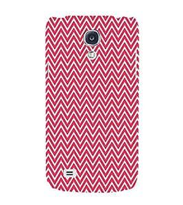 Red Chevron 3D Hard Polycarbonate Designer Back Case Cover for Samsung Galaxy S4 Mini i9190