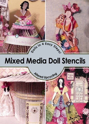 Mixed Media and Collage Doll Stencils