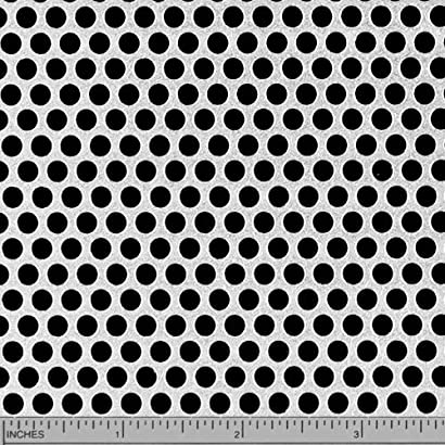 """3//16/"""" HOLES--20 GAUGE-304 STAINLESS STEEL PERFORATED SHEET--12/"""" X 23/"""""""