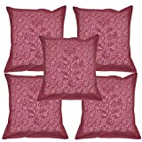 Indian Traditional Cotton Cushion Cover Beautiful Hand Block Print Work 16 X 16 Inches