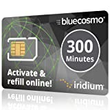 BlueCosmo Iridium 300 Min Prepaid Global SIM Card - Satellite Phone Airtime – 1 Year Expiry - No Activation Fee – No Monthly Fee - No Rollover - Easy 24/7 Online Activation (Color: 4: 300 Minute / 1 Year - NO ROLLOVER)