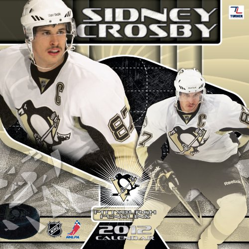 2012 PITTSBURGH PENGUINS SIDNEY CROS|||12X12 WALL CALENDAR Perfect Timing - Turner