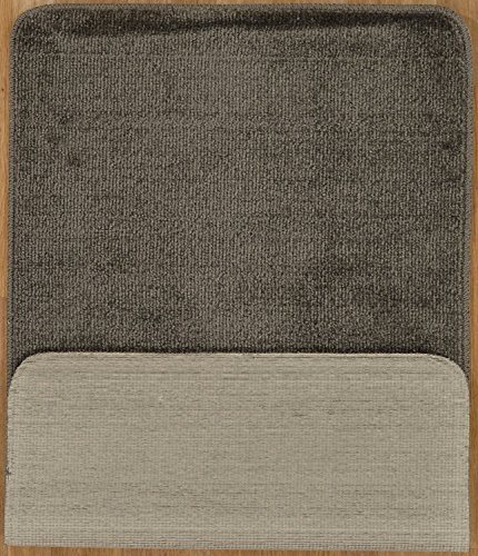 Softy Collection Grey Color Solid Mat Rug Plain Soft Quality Bath Mats Washable Rubber Back