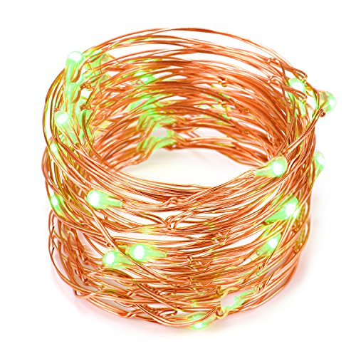 Copper Wire LED String Lights,2 Set of Micro 30 LEDs Starry Lights,4.9 Ft (1.5m) for DIY,Home,Party,Wedding Centerpiece or Table Decorations (Green)
