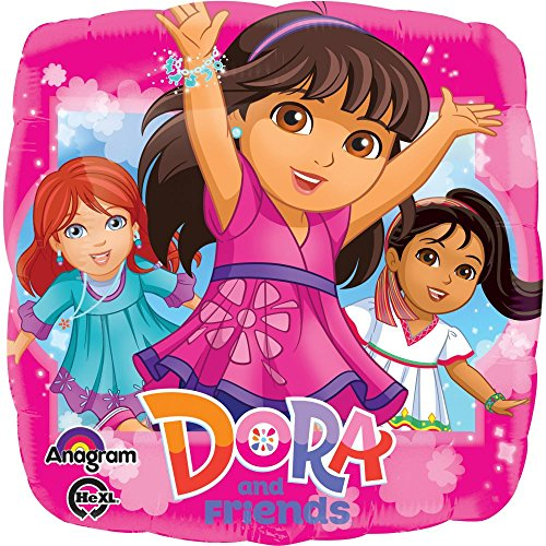 Anagram International HX Dora and Friends Packaged Party Balloons, Multicolor - 1