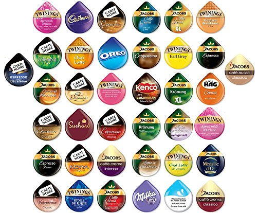 Tassimo - T-Discs Pods Variety Pack - 38 different types