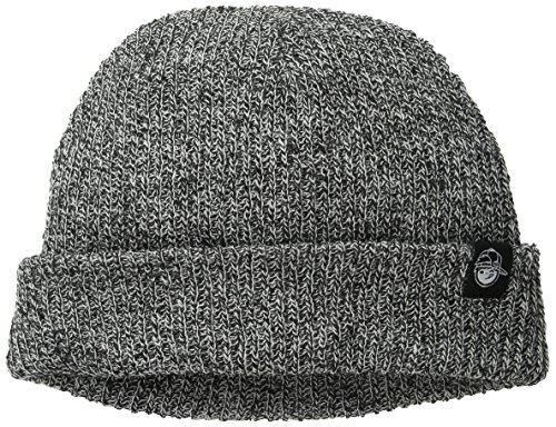Neff Big Boys' Youth Daily Heather Beanie, Black/White, One Size