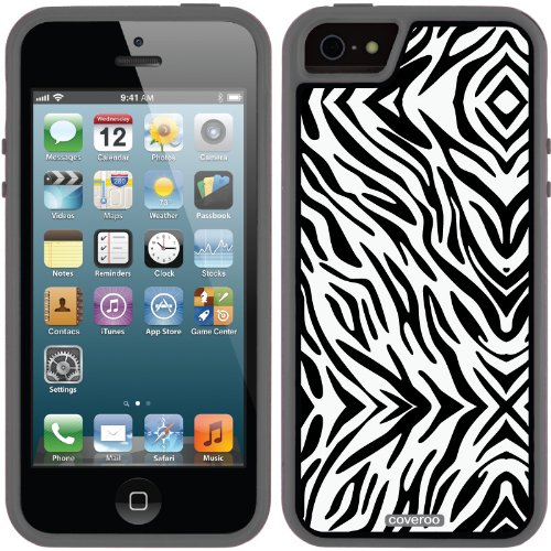 Great Price Zebra Black design on a Black iPhone 5s / 5 Guardian / Ruggedized Case by Coveroo