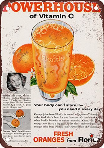 1959-florida-orange-juice-vintage-look-reproduction-metal-tin-sign-8x12-inches