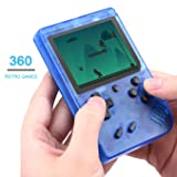 Efunlife Handheld Game Console, 360 Classic Games 3 Inch LCD Screen Retro FC System Portable Sized Game Console Support AV Out TV, Good Gift for Boy Kids (Color: Transparent Blue Single)