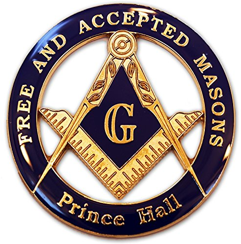 Masonic Free and Accepted Masons Prince Hall Auto Emblem from The Masonic Exchange