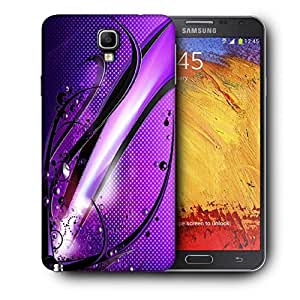 Snoogg Abstract Purple Glossy Design Printed Protective Phone Back Case Cover For Samsung Galaxy NOTE 3 NEO / Note III