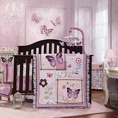 Lambs & Ivy Butterfly Bloom 6 Piece bedding set - 1