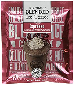 Big Train Blended Ice Coffee, Espresso, 2.8-Ounce Bags (Pack of 25)
