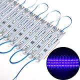 ChiChinLighting 20 Piece Pack – Blue 12 Volt LED Module - Powered by Samsung 5630 SMD LED Chip – Blue LED Strips - Super Bright – IP65 Waterproof
