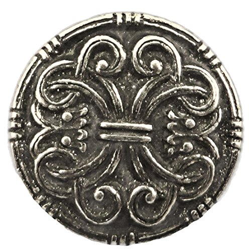 Saga Middels Pewter Button. 3/4""