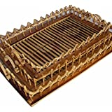 Indrani Collection Bamboo And Cane Criss Cross Serving Tray - (Small- 39 X 27 Cms, Medium-43 X 31 Cms, Large-47...