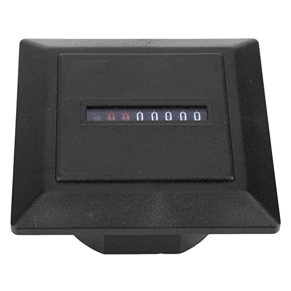 Nitrip HM-1 AC220-240V Non-Resettable Hour Timer Accumulating Time Meter Gauge Counter Black