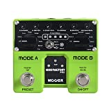 Muslady MOOER MODFACTORY Pro Dual Modules Modulation Guitar Effect Pedal 16 Modulation Effects Tap Tempo Function with Dual Footswitches