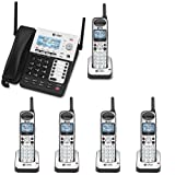 AT&T SB67138 4 Line  Operation Phone  LCD Display (Color: Black/Silver, Tamaño: AT&T SB67138 + (5) SB67108)