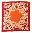 [L/26.4inc] FUROSHIKI - Japanese Wrapping Cloth (Chirimen- Plum/Red)