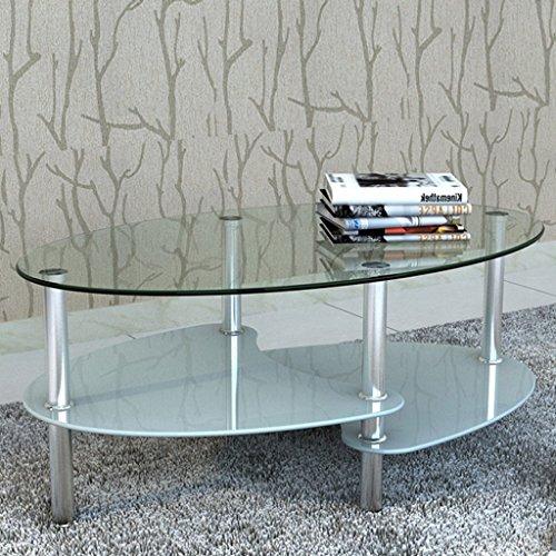 Tavolino design esclusivo 3 ripiani bianco