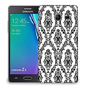 Snoogg Grey Spaced Pattern Designer Protective Phone Back Case Cover For Samsung Galaxy Tizen T3