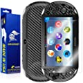 ArmorSuit MilitaryShield - Playstation Vita Slim (2014) Screen Protector + Black Carbon Fiber Full Body Skin Protector / Front Anti-Bubble Ultra HD - Extreme Clarity & Touch Responsive Shield with Lifetime Free Replacements