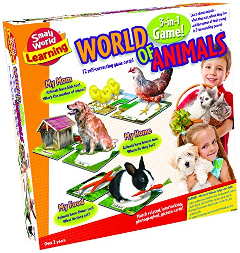 Small World Toys Learning - World of Animals Card Game - 1