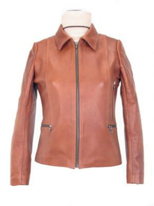 Alpacaandmore Creme farbene Damen Lederjacke Lamm Nappa Leder handgenäht kaufen