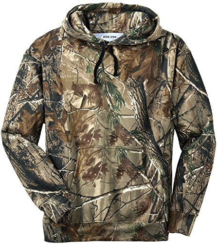 Joe's USA(tm) - Realtree Hoodie Pullover Sweatshirt- Camo Hooded Hunting Sweatshirts size-Large