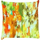 Snoogg Abstract Paint Cushion Cover Throw Pillows 16 X 16 Inch