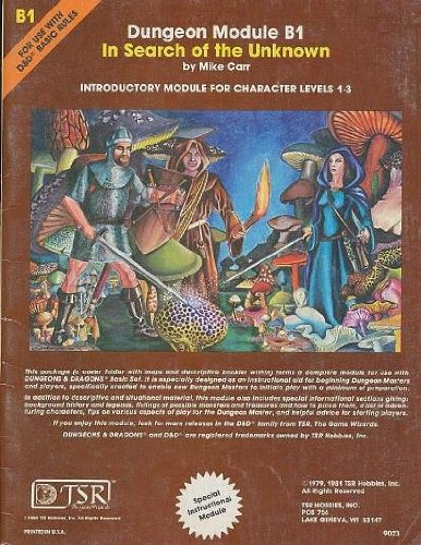 In Search of the Unknown (Dungeons & Dragons Module B1) (Dungeon module) (Dungeon Module B1 compare prices)