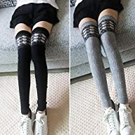 Women Thigh High Over Knee Knitted Ca…
