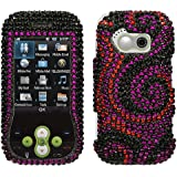 Asmyna LGGT365HPCDM066NP Dazzling Diamante Bling Case for LG GT365 - 1 Pack - Retail Packaging - Black Swan