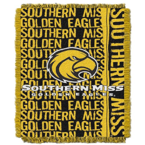 NCAA Southern Mississippi Golden Eagles 48 x 60-Inch Double Play Jacquard Triple Woven Throw