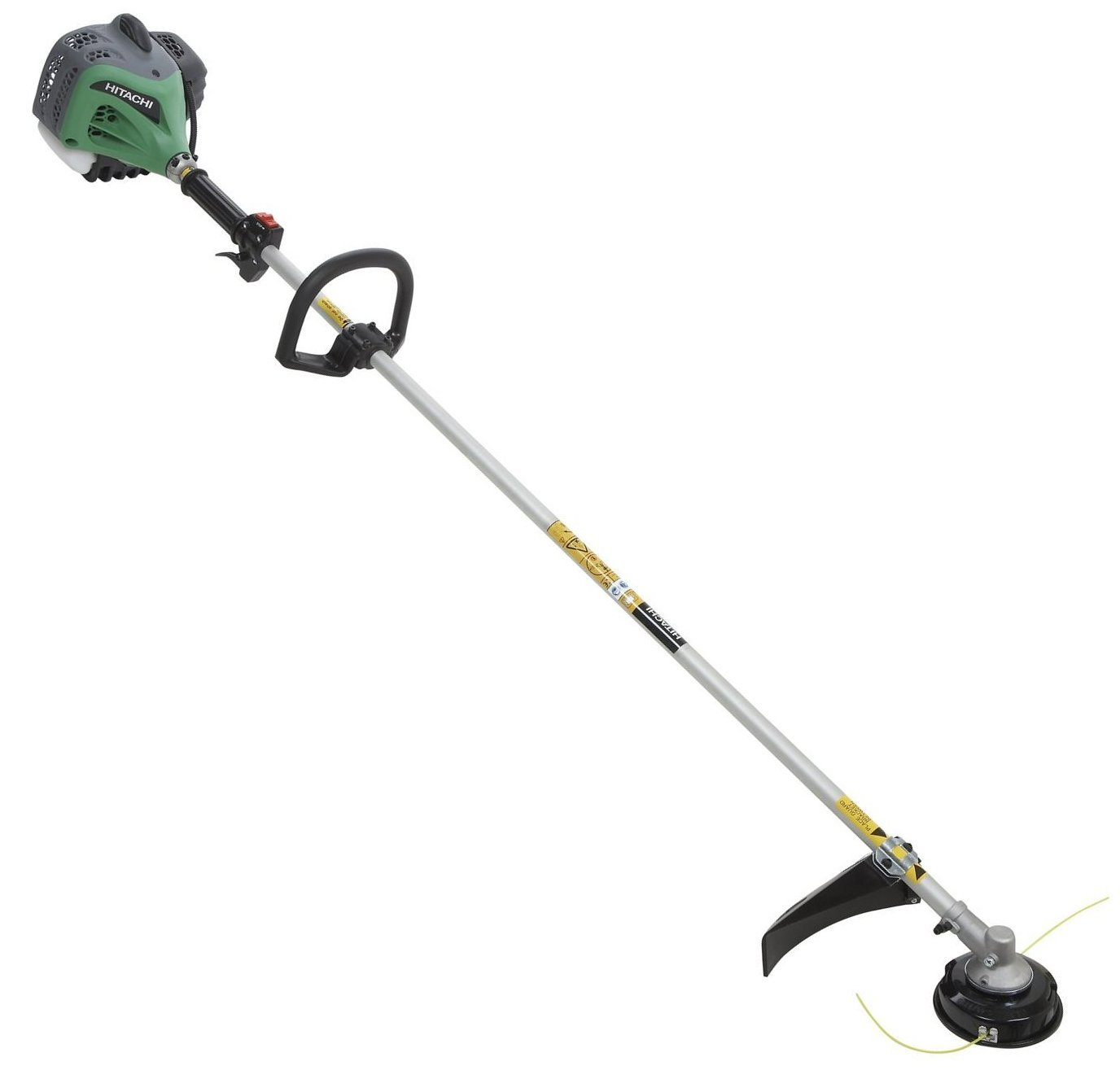 Hitachi CG24EKSL 23.9cc 2-Stroke Gas Powered Straight Shaft Commercial Grade Grass Trimmer / Brush Cutter (CARB Compliant)