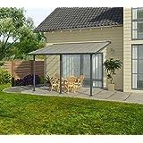 Hochwertige Aluminium Terrassenüberdachung, Terrassendach 300x971 cm (TxB) - grau