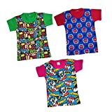 Pushpak Readymades Supper Heroes T-Shirts for Kids (Pack of 3)