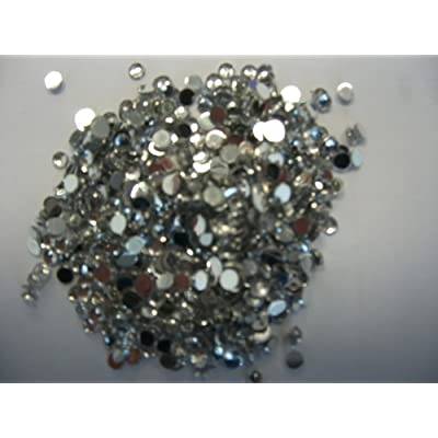 500 3Mm Clear Loose Flat Backed Diamante Crystal Gems By Virgo