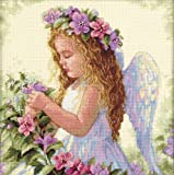 Dimensions Crafts Passion Flower Angel Counted Cross Stitch Kit 11