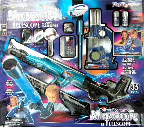 MicroScience Microscope and Telescope 35-Piece Value Pack