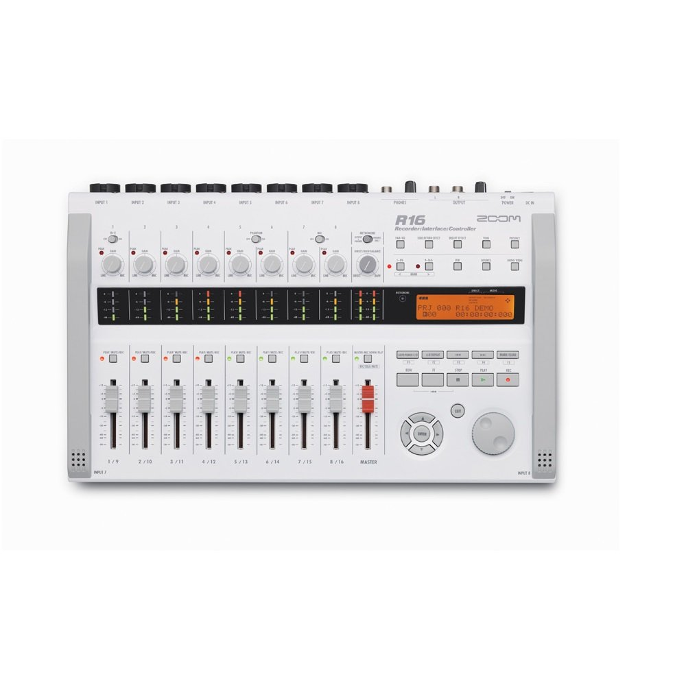 Zoom R16 16 Track SD Card Recorder Interface and Controller