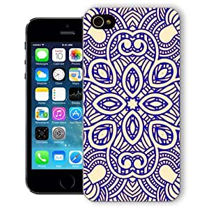 ChiChiC Iphone Case, i phone 5 5s case, Iphone5 Iphone5s covers, plastic cases back cover skin protector,geometric yellow purple mandala