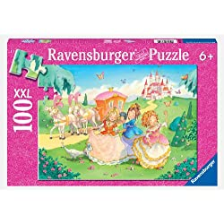[Best price] Puzzles - Princess Carriage Ride 100 Piece Glitter Puzzle - toys-games